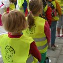 The toddlers of Basisschool Zonnekind go on a bike ride.