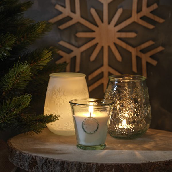 Authentic Faro recycled glass tealight holder