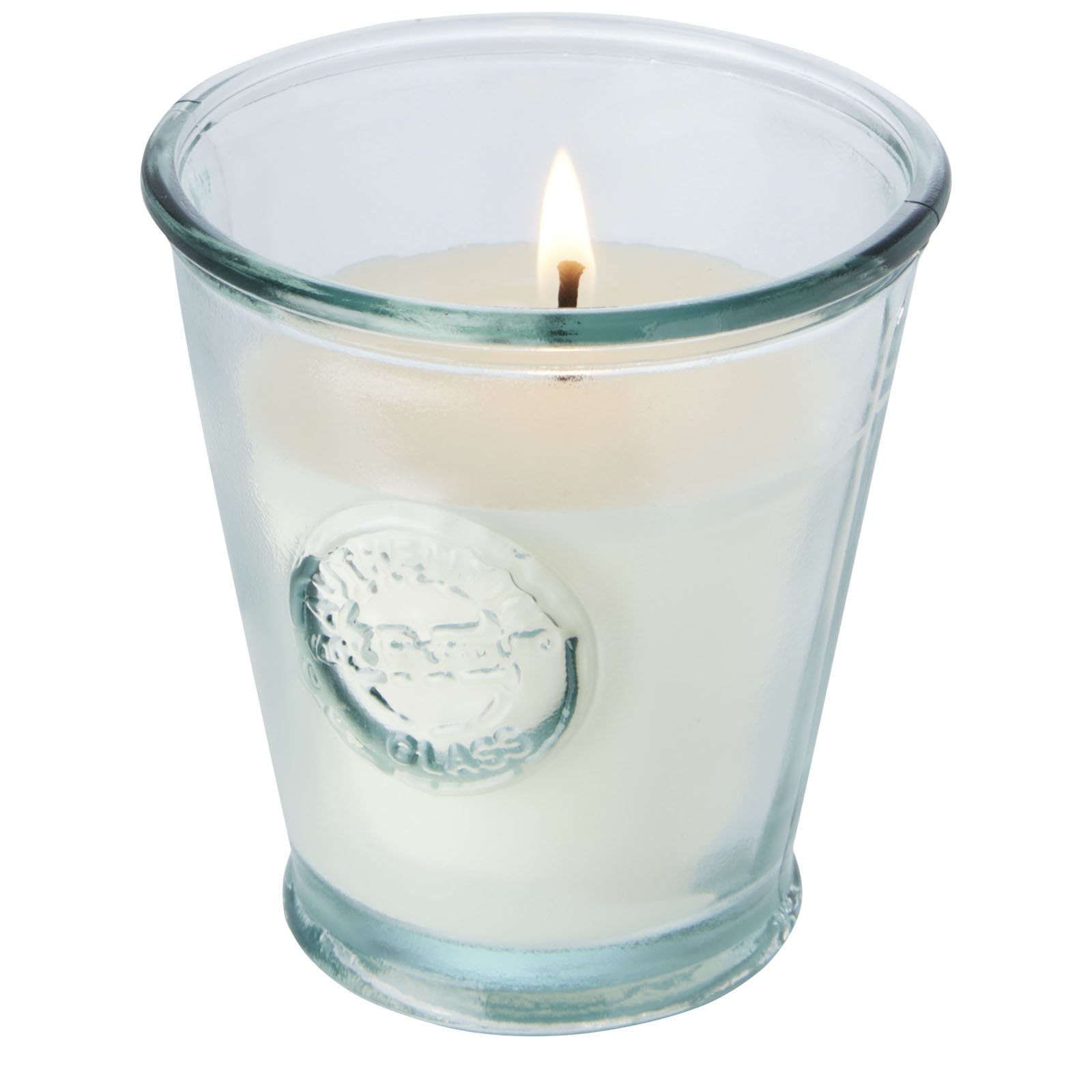 Authentic Luzz soybean candle with recycled glass holder