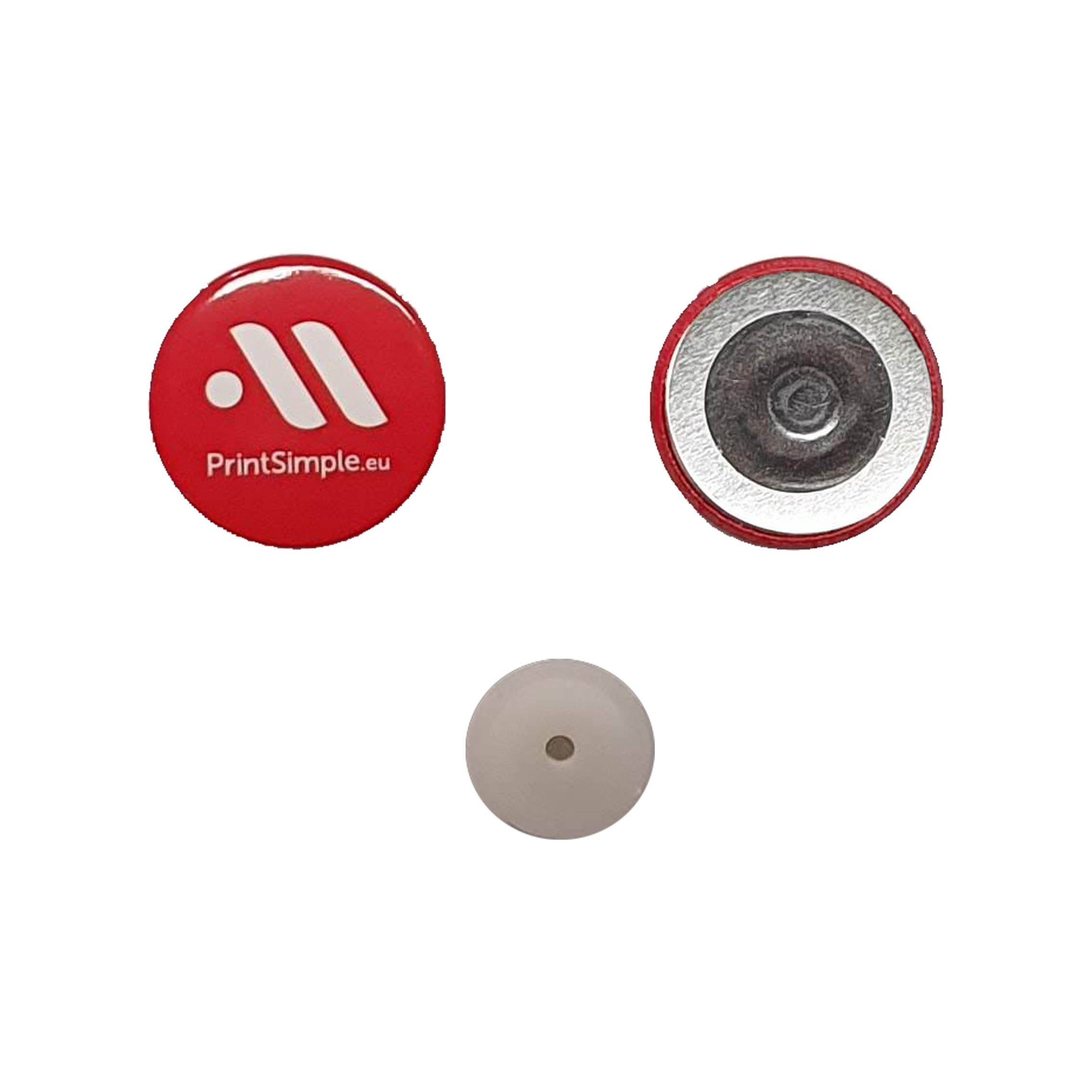 Badge magnet with magnetic closure