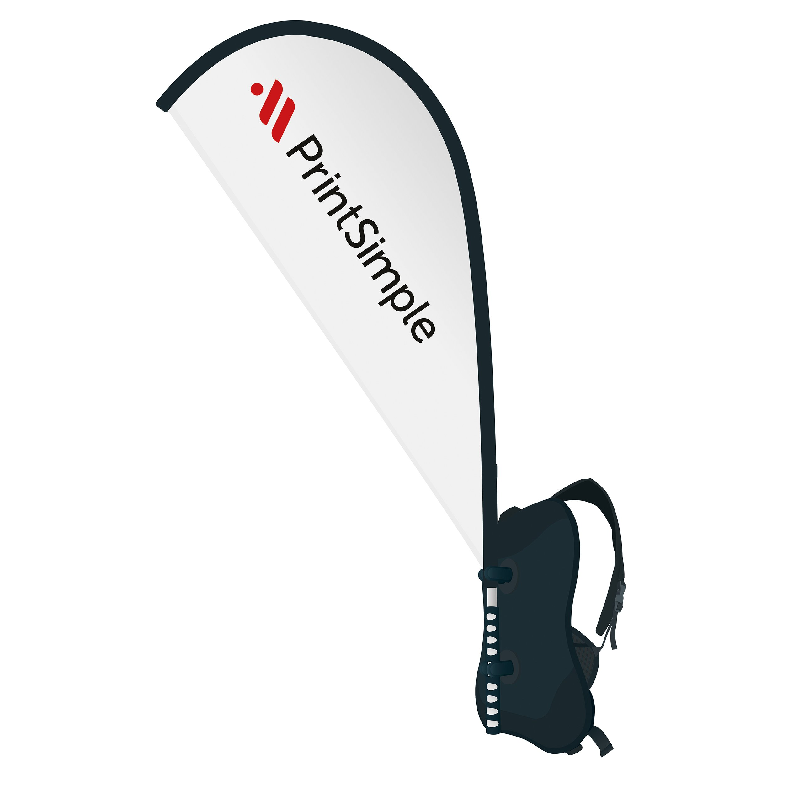 Beachflag backpack drop