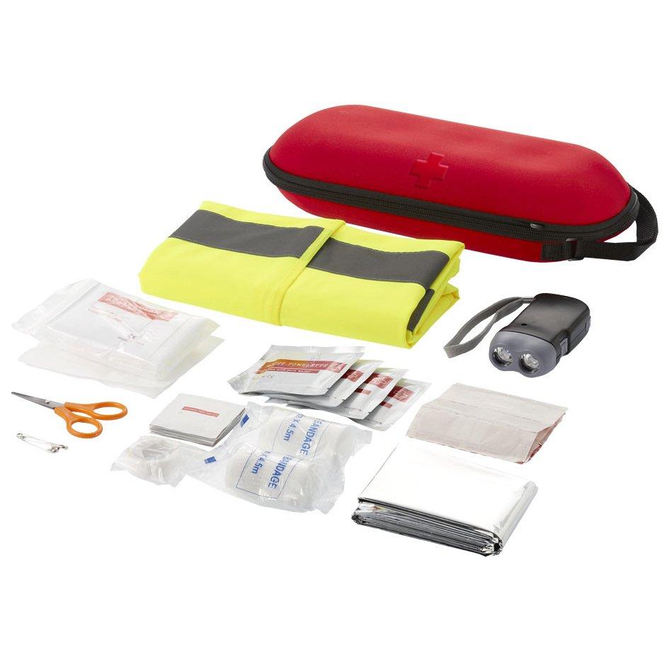 Bullet Handies 46-piece first aid kit & safety vest