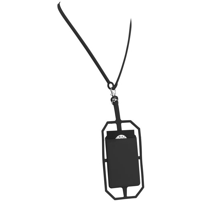Bullet silicone RFID card holder with lanyard