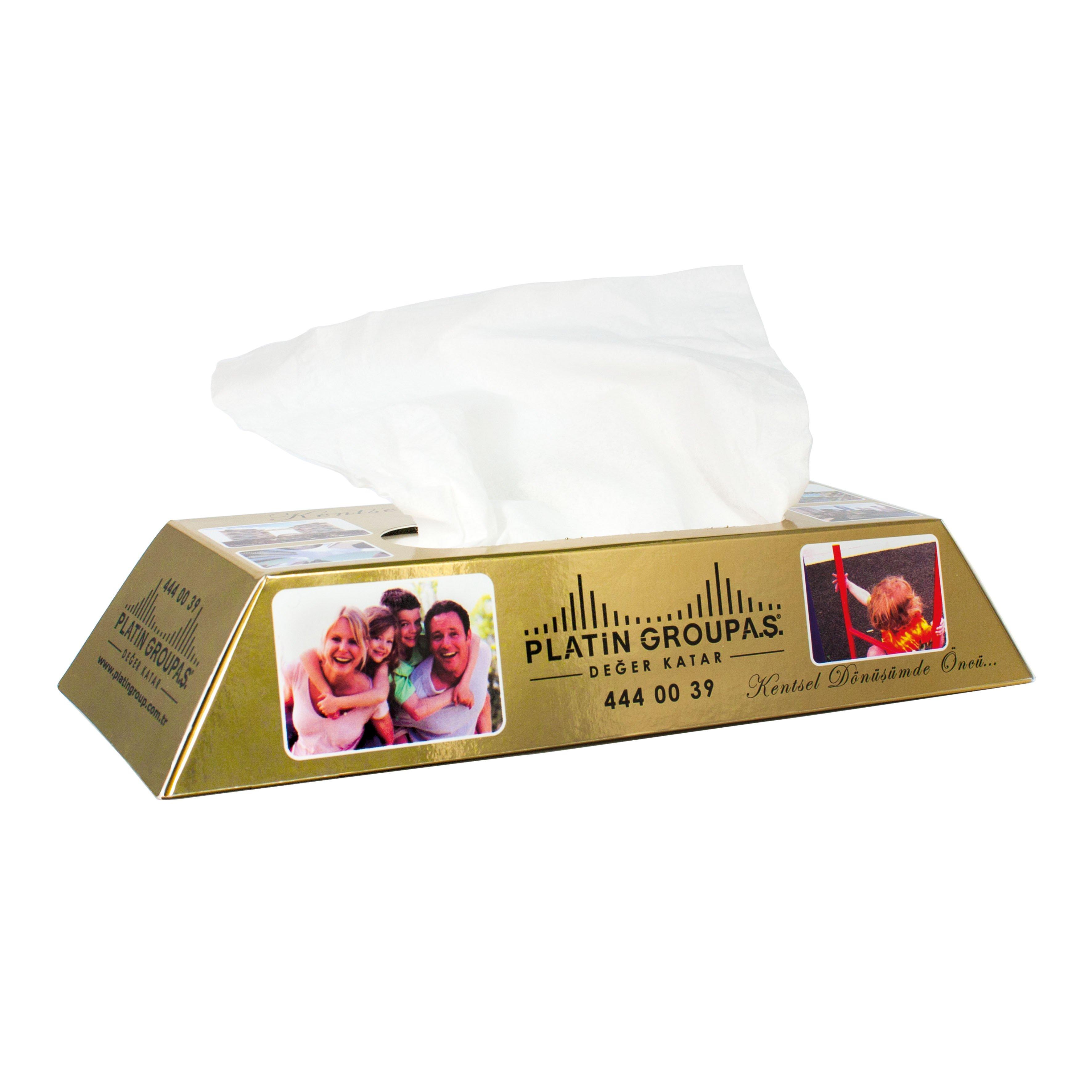 Care & More gold bar tissue box