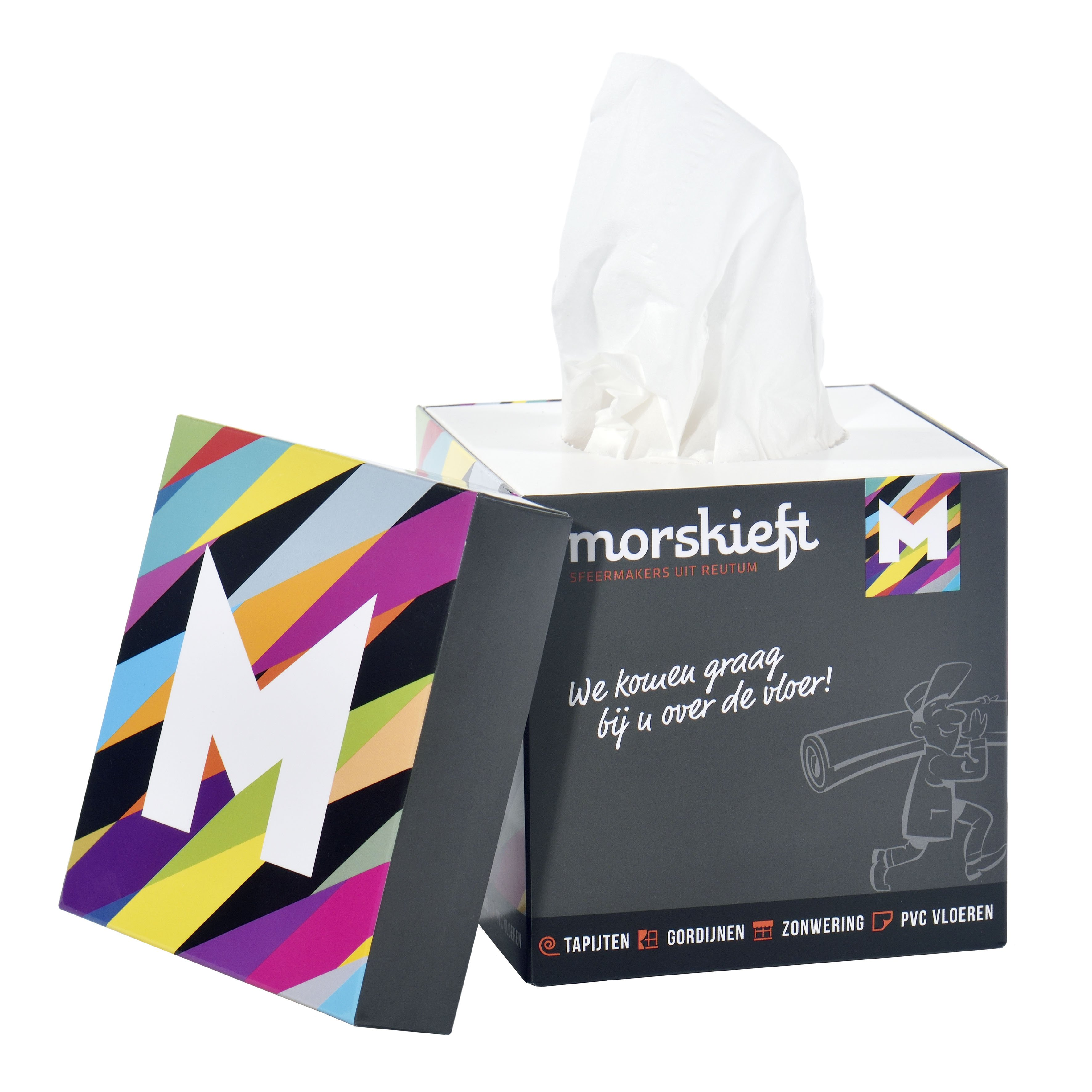 Care & More tissue box with lid