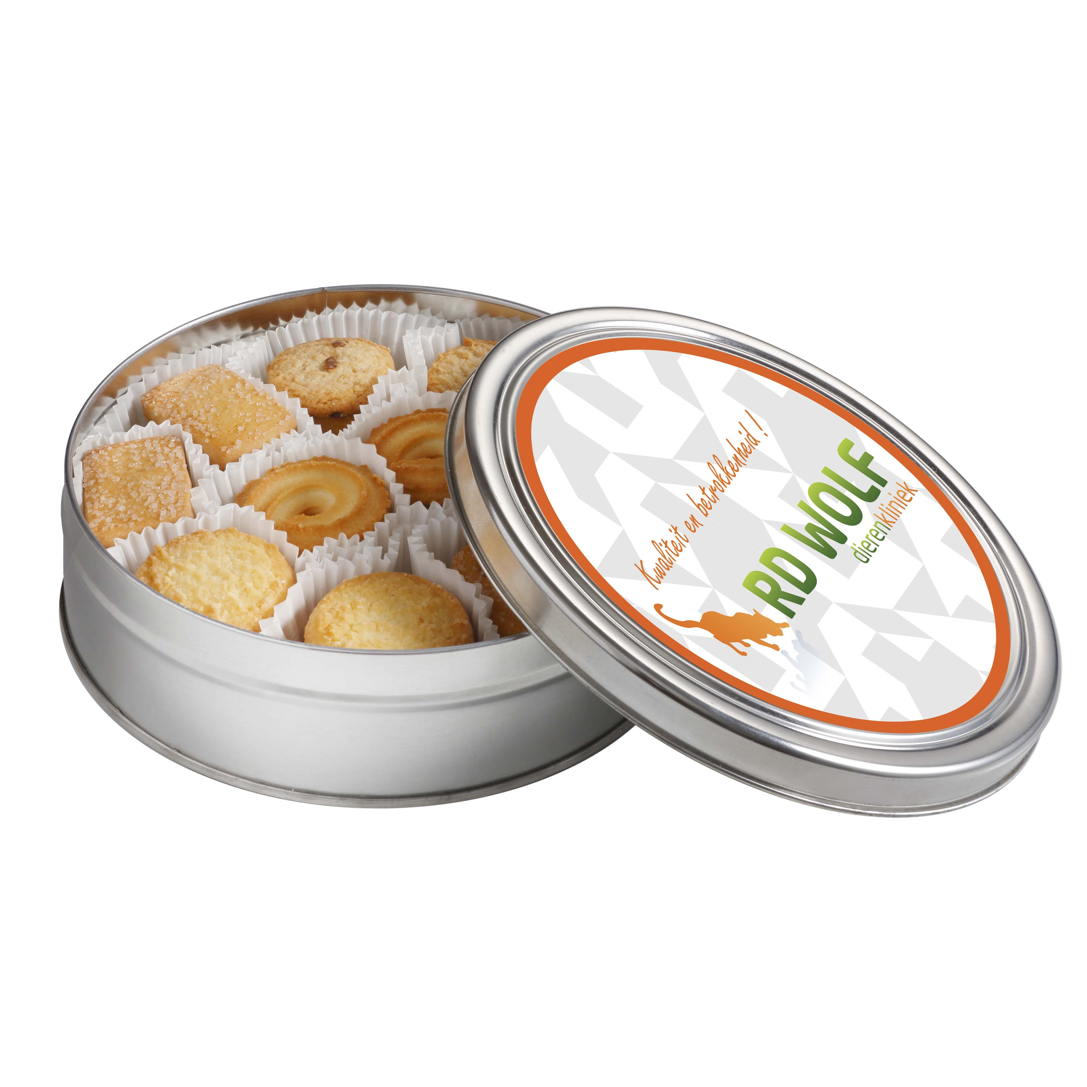 Cookies & More round cookie tin