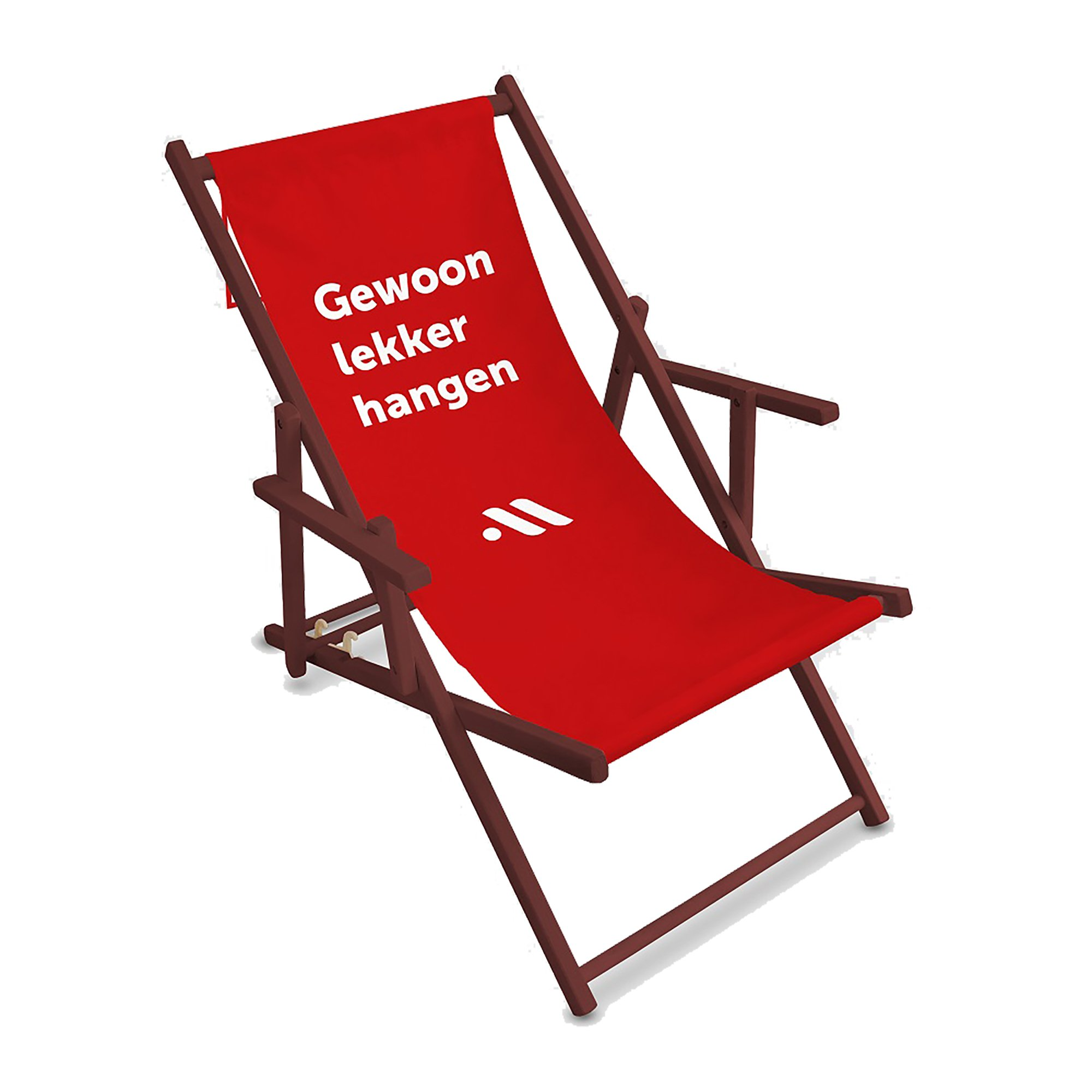 Leza Comfort deckchair with armrest