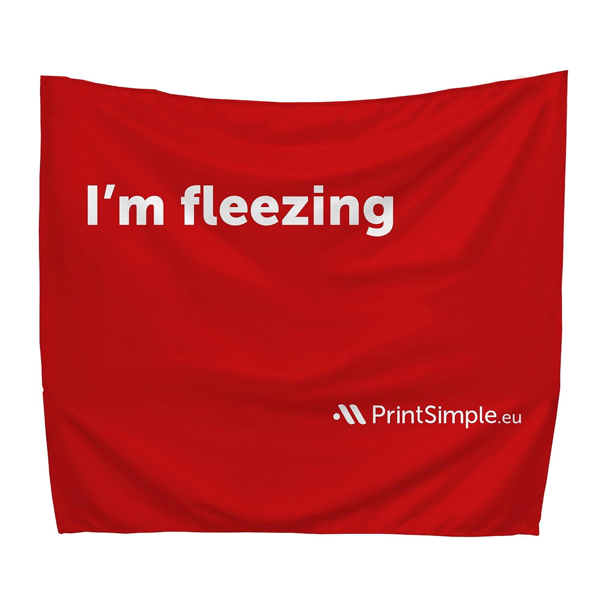 Leza medium advertising blanket, printed all-over