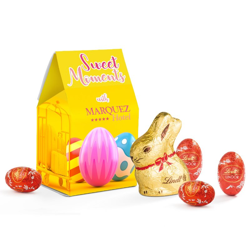 Lindt stand-up box Easter