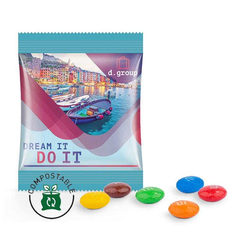 M&M's chocolate mini bag, compostable foil