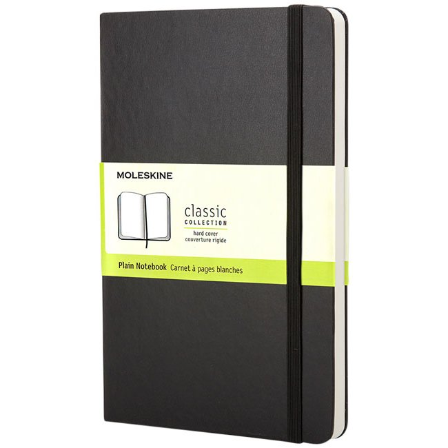 Moleskine Classic PK hard cover notebook, plain