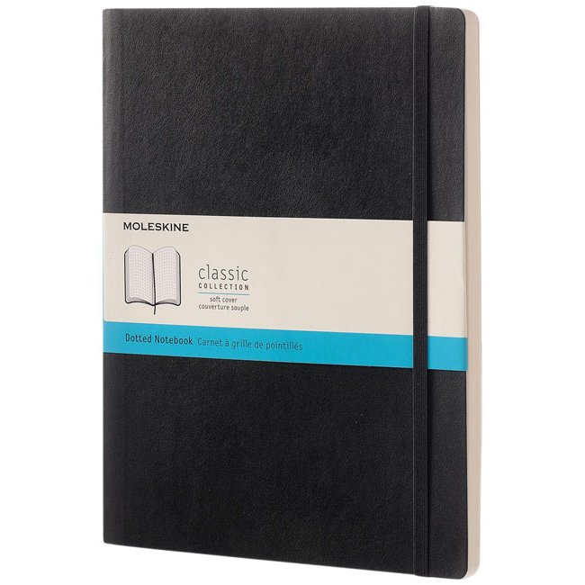 Moleskine Classic XL soft cover notebook, dotted