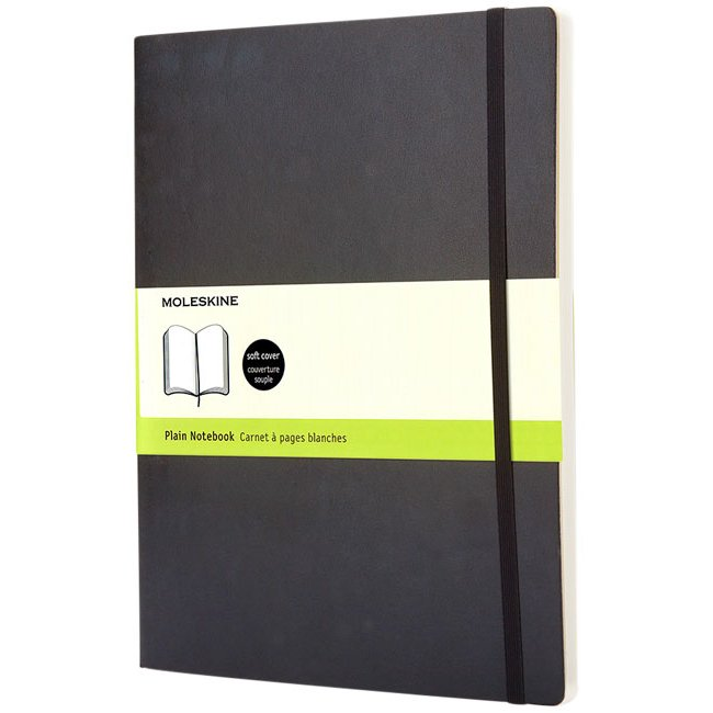 Moleskine Classic XL soft cover notebook, plain