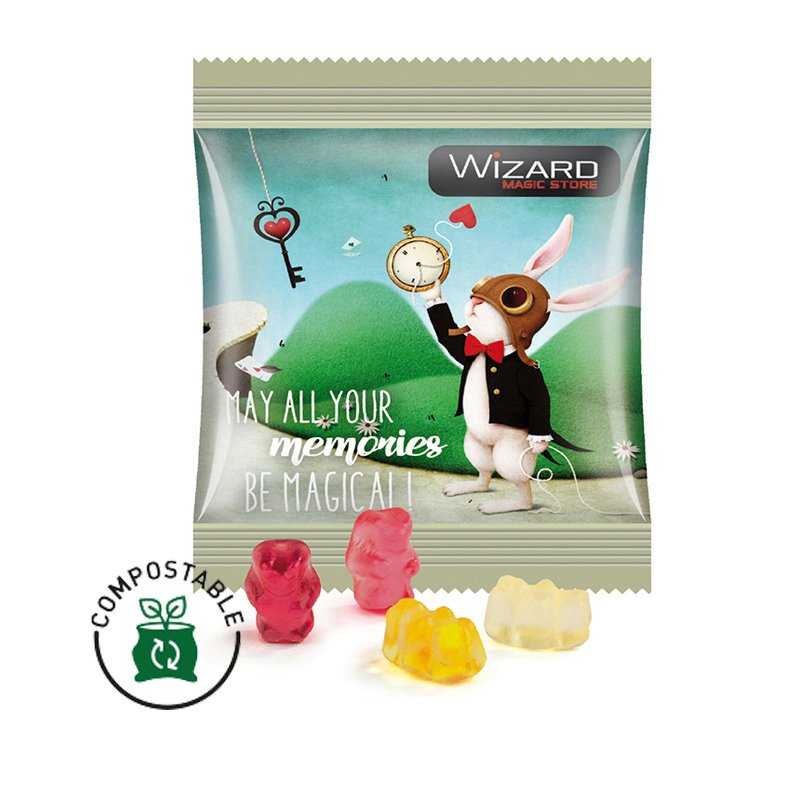 Trolli express jelly bears, compostable foil