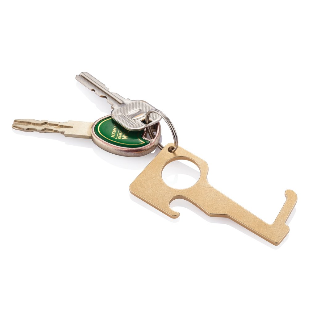 XD Collection Brass hygienic zero contact keychain