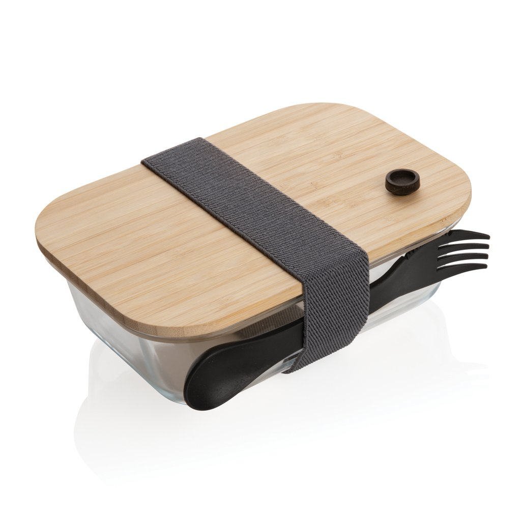 XD Collection glass lunchbox with bamboo lid