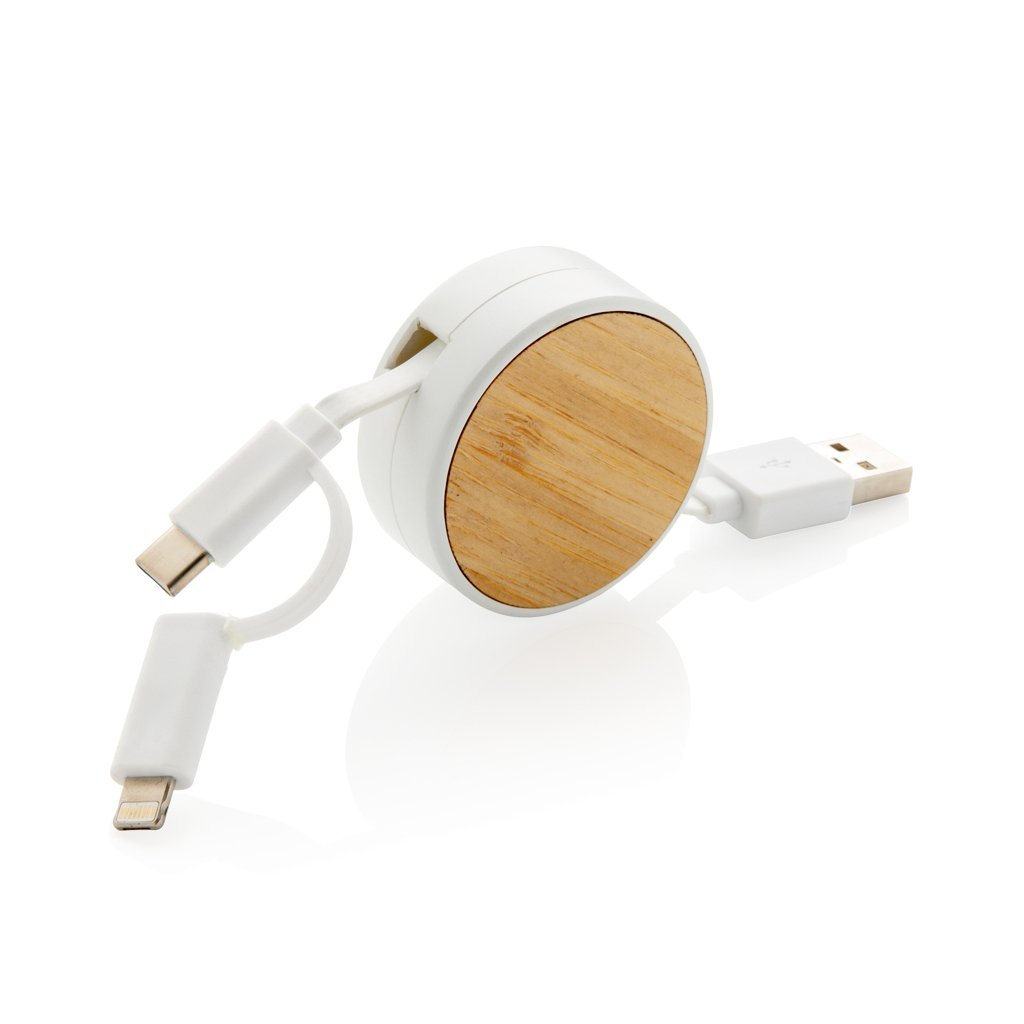 XD Collection Ontario 3-in-1 retractable cable