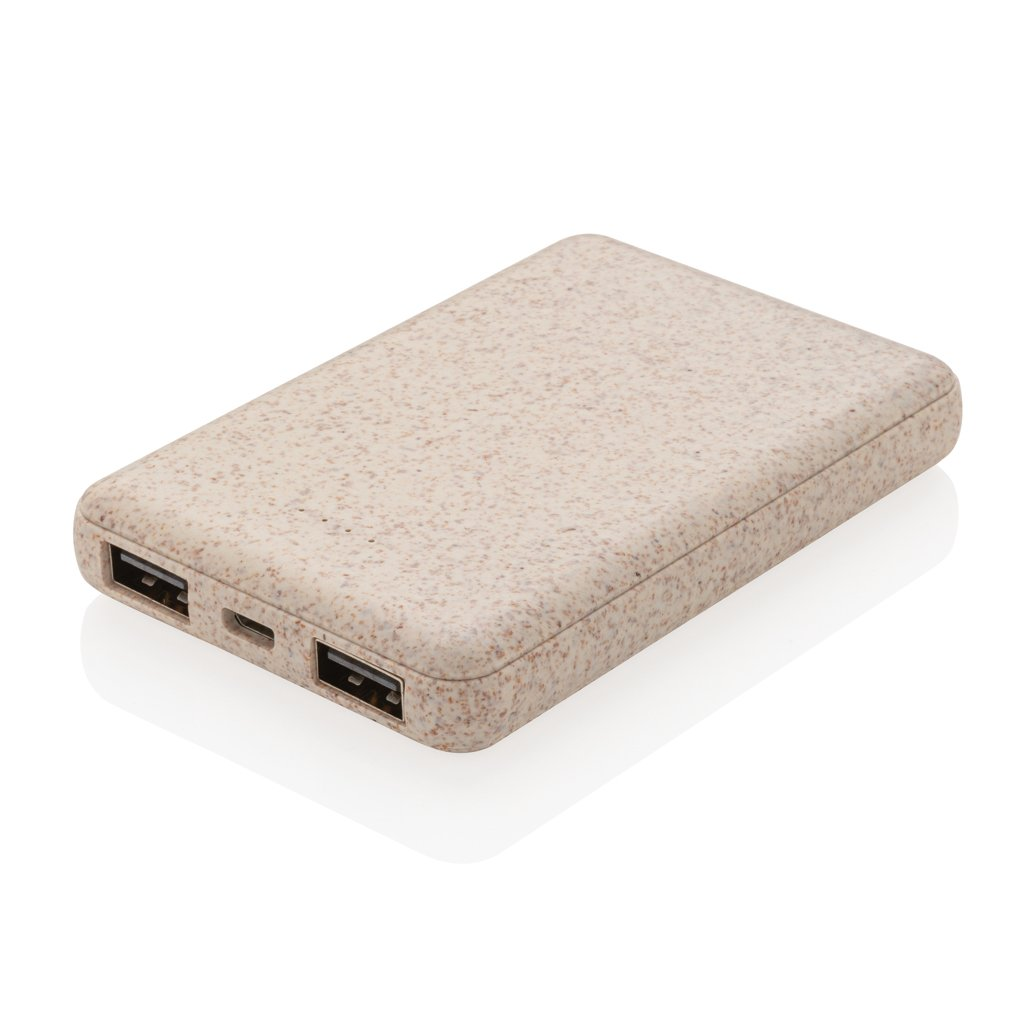 XD Collection Wheat Straw 5.000 mAh pocket power bank