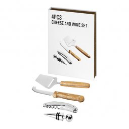 Avenue Nantes 4-piece wine and cheese gift set