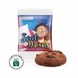 Bahlsen chocolate cookie, compostable foil
