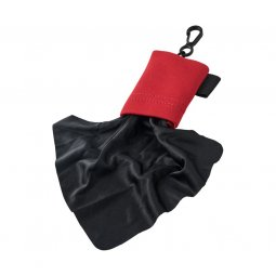 Bullet Clear microfiber cleaning cloth in pouch