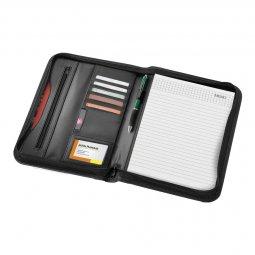 Bullet Ebony A4 writing case with zipper