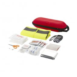 Bullet Handies 46-piece first aid kit and safety vest