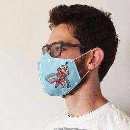 Care & More Artiest premium herbruikbaar mondmasker