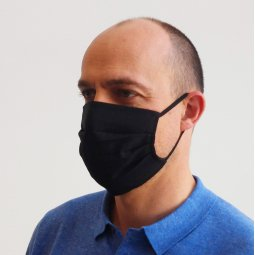 Care & More Classic herbruikbaar zwart mondmasker