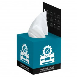 Care & More tissue box with flap