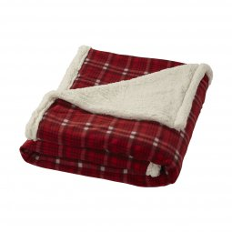 Field & Co. Joan sherpa plaid blanket