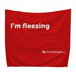 Leza large advertising blanket, printed all-over