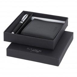Luxe Baritone balpen cadeaubox, zwartschrijvend
