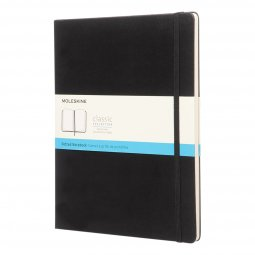 Moleskine Classic A4 hard cover notitieboek, gestipt
