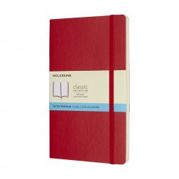 Moleskine Classic L soft cover notitieboek, gestipt