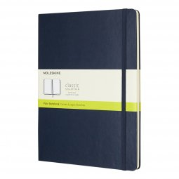 Moleskine Classic XL hard cover notebook, plain