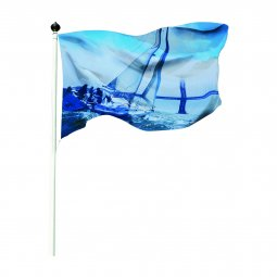 Printed flags with custom size