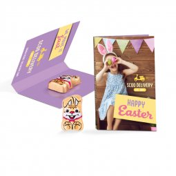 Riegelein promotion card with Easter bunny