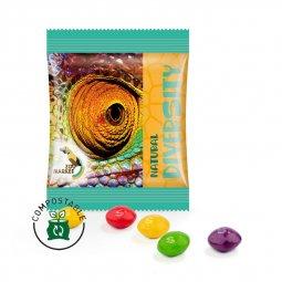 Skittles snoepjes mini zakje, composteerbare folie