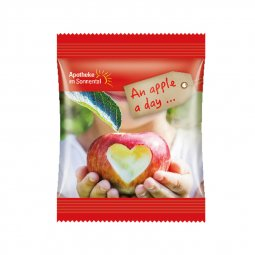 Snacks & More mini bag of apple cubes