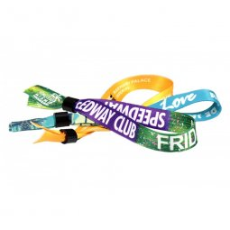 Sublimated or woven wristbands