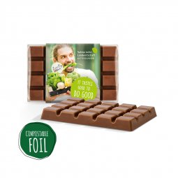 Sweets & More design chocolate, compostable foil