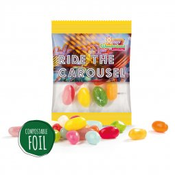 Sweets & More jelly beans mini bag, compostable foil