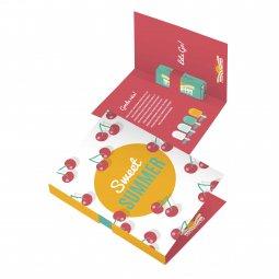 "Sweets & More vouwkaart met vierkant ""rolletje"" pepermunt"