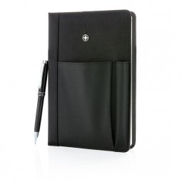 Swiss Peak refillable A5 notebook, ruled