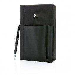 Swiss Peak vervangbaar notitieboek en pen