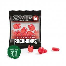 Trolli jelly gums in custom shape (15g), compostable foil
