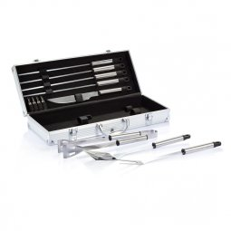 XD Collection 12-delige barbecue set in aluminium koffer