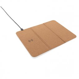 XD Collection 5W wireless charging cork mousepad and stand