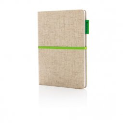 XD Collection A5 jute cotton notebook